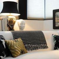 Designul interior in alb si negru