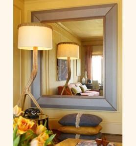 Oglinda in spatii mici