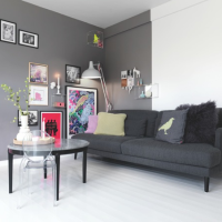 Portia de inspiratie: pereti-accent in culori inchise / Inspiration dose: dark accent walls